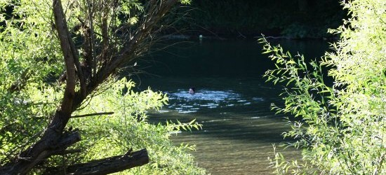 wild river swimming in Asturias Spain